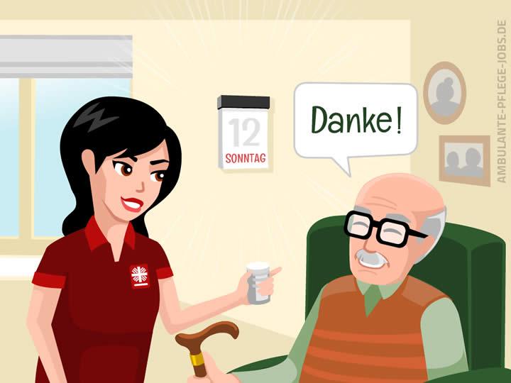 Caritas ambulante Dienste GmbH - Ambulante Pflege-Jobs - Vorurteile - Wochenende