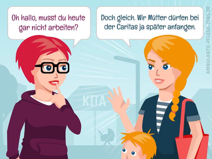 Caritas ambulante Dienste GmbH - Ambulante Pflege-Jobs - Vorurteile - Vereinbarkeit